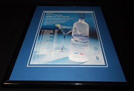 2003 Grey Goose Vodka Framed 11x14 ORIGINAL Vintage Advertisement - $32.36