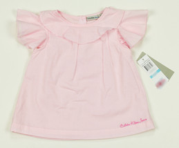 CALVIN KLEIN JEANS NEW INFANT GIRLS PINK COTTON RUFFLED TUNIC DRESS 12 M... - $13.80