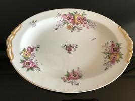 Antique France LIMOGES Serving Platter Floral Pattern 11.5 x 8.75 inch - $349.20
