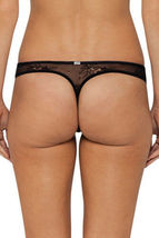 Calvin Klein CK Black Daring Thong Sheer Lace QF1616 Black or Silver Grey NWT image 3
