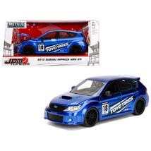 2012 Subaru Impreza WRX STI Blue JDM Tuners 1/24 Diecast Model Car by Ja... - $30.60