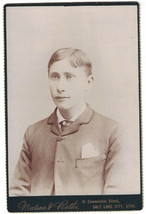 Cabinet Photo of Nicely Dressed Attractive Young Man - Salt Lake City. V... - $8.60