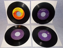 Eight 45 RPM Record Lot Nat King Cole Ray Charles Mills Brothers Mathis 1A - $6.00
