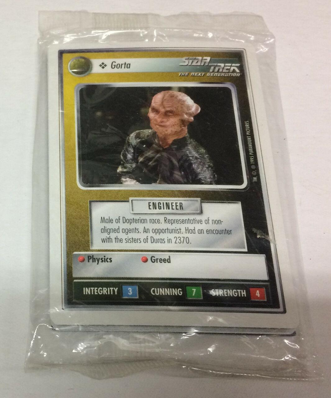 Star Trek TNG CCG Card Game Warp Pack ~ w/ Montgomery Scott Scotty ~ TNG Relics