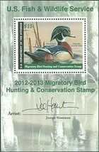 2012 Wood Duck Federal Duck Souvenir Sheet Artist Signed Scott RW79b Stu... - $55.00