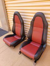 00-05 Toyota MR2 Spyder Seats L&R Reupholstered W/ Tracks image 5