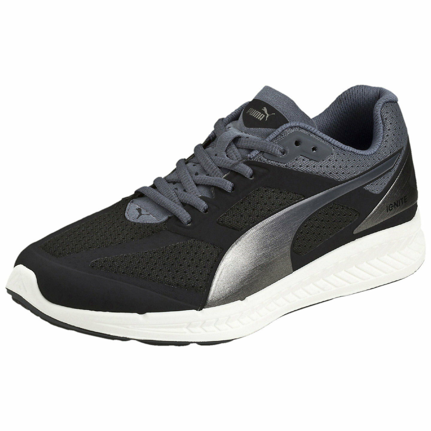 Women's Puma IGNITE Running Shoes, 188077 02 Size 6.5 black/puma silver/turbu - $79.95