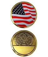 NEW US ARMY LICENSED MILITARY CHALLENGE COIN- CAN BE ENGRAVED- HAS FLAG ON BACK - $8.95