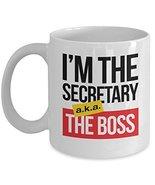 Secretary aka Boss White Ceramic Funny Coffee & Tea Gift Mug - $13.71