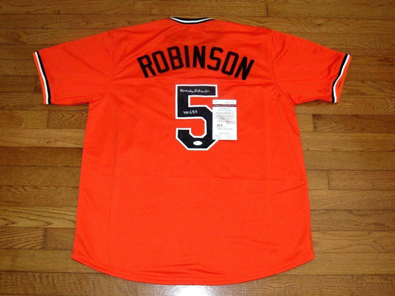 e39c86a80 57. 57. Previous. BROOKS ROBINSON HOF 1983 BALTIMORE ORIOLES SIGNED AUTO JERSEY  JSA AUTHENTIC