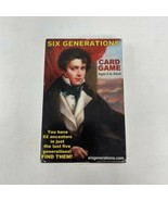 Six Generations Card Game : Immigration from Europe to America Edition b... - $19.79