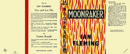 Fleming-facsimile jacket for 1st UK ed. of MOONRAKER - $22.00