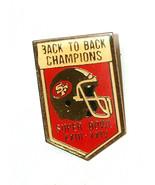 Vtg 1990 San Francisco 49ers dietro Sul Retro Sb Xxiii Xxiv Champions Ca... - $9.28