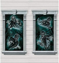Haunted House Windows Silhouettes 2 Decorations Per Pack 33 in x 65 in H... - $11.83