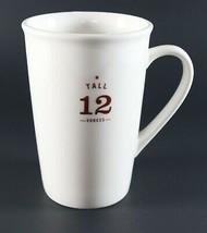 Vintage NOS New 2010 White STARBUCKS Tall 12 Ounces Coffee Mug 12oz Cup - $12.14