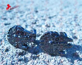 Star Wars Gothic Fighter Warship Silver Cufflinks  – Wedding, Birthday, Dad's Gi - $3.95
