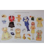 Barbara Antique Clothing Paper Doll Theresa Borelli + Cardstock + Envelo... - $7.99