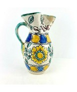 Vintage Toledo Hand Painted Pottery Sangria Wine Pitcher Spanish Signed  - $59.39