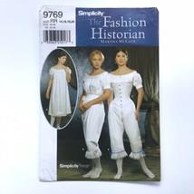 Simplicity 9769 Fashion Historian Civil War Undergarments 14-20 Uncut Pa... - $9.70