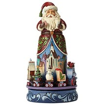 Jim Shore for Enesco Heartwood Creek Santa with Rotating Train Figurine,... - $141.59