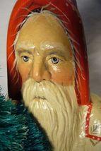 Vaillancourt Folk Art , Large White  Coat Father Christmas signed by Judi image 5