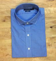 $145 LAUREN Ralph Lauren Mens Slim Fit Dress Shirt, Blue/White, Size 16 40/41 - $49.49
