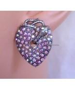 New GUESS Heart Snake  Multicolor Stone Stud Earrings - $28.00
