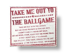 **Wooden Sign Take Me Out To The Ballgame Rustic Sign Size 22 x 25 Item ... - $47.00