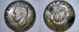 1942 Great Britain 1/2 Penny World Coin - UK - England - $2.49