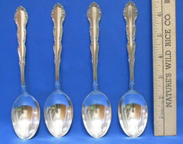 Set 4 Vintage Tablespoons Spoons 1881 Rogers Oneida LTD Flirtation Silverplate - $25.73