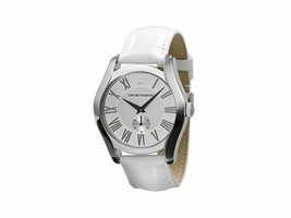 Emporio Armani AR0696 Classic White Embossed Leather Womens Watch - £86.57 GBP