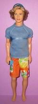 Barbie Ken Fashion Fever Era Beach Fun Blaine Boy Rooted Hair 2004 Cali ... - $20.00