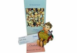 Goebel MI Hummel figurine Germany box nib coa signed vtg 902 Lets Sing 1... - $54.45