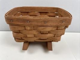 Longaberger Mini Rocking Cradle Basket 1989 Handsigned Made in USA - $19.80