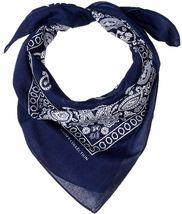 "6 Pack Paisley Cotton Head Wrap Western Scarf Face Cover Bandana Navy 22"" X 22"" image 4"