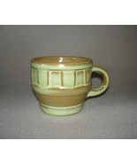 Frankoma Wagon Wheel Prairie Green Cup 94C - $20.00