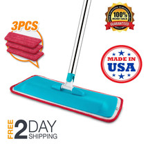 Microfiber Floor Mop Cleaner Sweeper With Soft Pads Dry Wet House Cleani... - $24.99