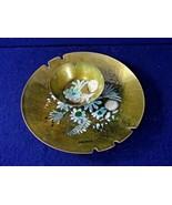 Vintage MCM - Sascha Brastoff Enamel Copper Plate + Small Bowl Set - SIGNED - $31.66