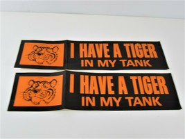 Esso Exxon I Have a Tiger in My Tank Bumper Sticker Vintage Gas Decal Lot of 2 - $24.18