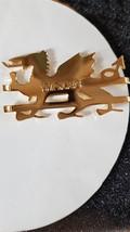 WELSH DRAGON in gold money clip/holder in gift box