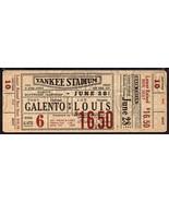 JOE LOUIS vs TONY GALENTO Heavyweight Championship Full Ticket June 28,1... - $167.31