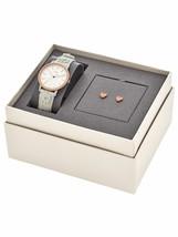 New Fossil Women's Neely White Leather Strap Watch & Heart Earring Set ES4383 - $81.34