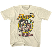 Poison Hot Wheels Kids T Shirt Look What the Cat Dragged In Rock Band Bo... - $19.50
