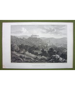 GERMANY Saxony Blaukenburg Town Castle - 1820s Copper Engraving Cpt BATTY - $13.77