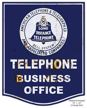 Nostalgic Telephone Laser Cut Out Reproduction Metal Sign 18x22 - $24.75