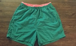 Vtg 80s 90s Gap Mens Swim Trunks Pink Green  Shorts Preppy sz Large film... - $18.39