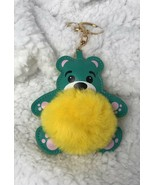 Cute Fuzzy Bear Keychain Handbag purse Backpack Charm US seller - $8.79