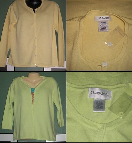 Primary image for Lot of 2 SOFT as CASHMERE Cardigan Sweater NEW-MED
