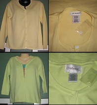 Lot of 2 SOFT as CASHMERE Cardigan Sweater NEW-MED - $24.99