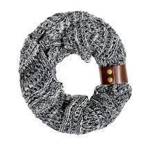 Black Jenna Knit Cowl Scarf - £17.74 GBP